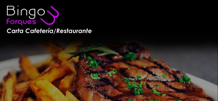 Carta Restaurante Bingo Tres Forques Valencia