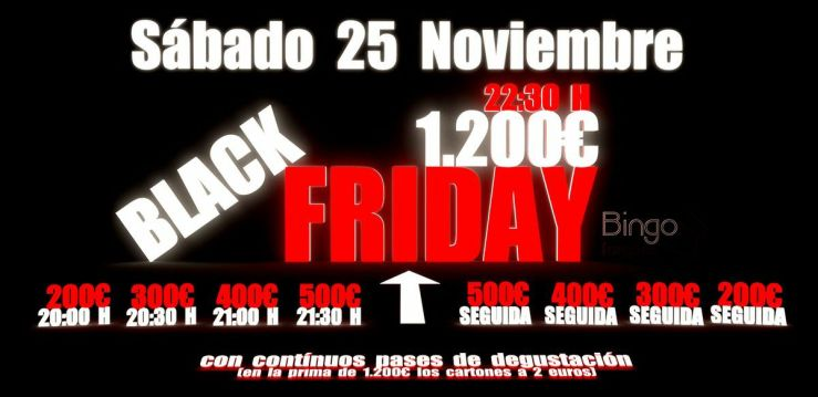 Black Friday Bingo Tres Forques Valencia