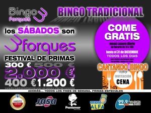 Otoño bingo Tres Forques