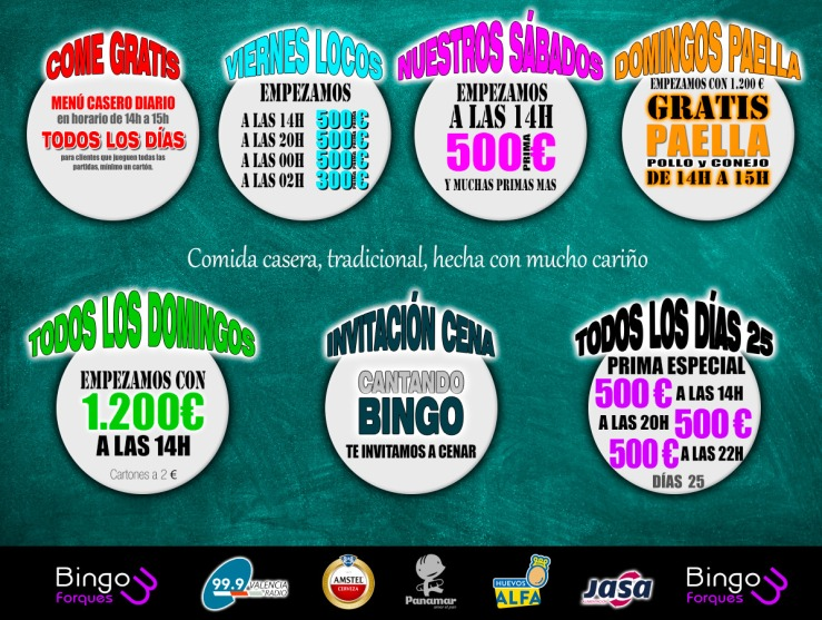 Promociones semanales bingo tres forques